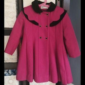 Vintage Rothschild Girl's Wool Coat Size 5